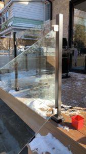 spigot glass deck railings