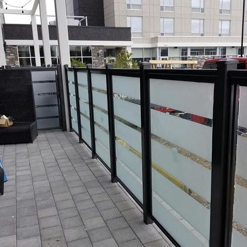 privacy glass railings canada