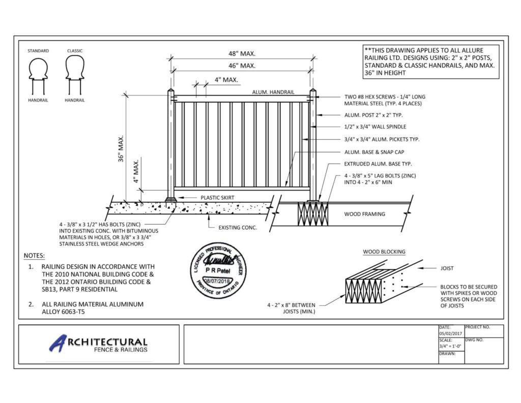 deck railings canada