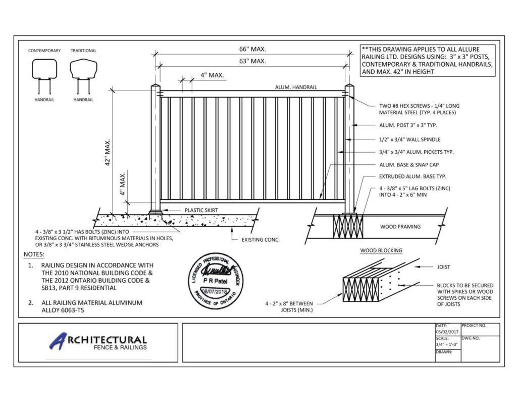 buy picket balcony railings toronto