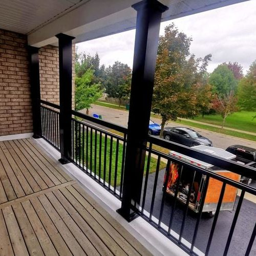 aluminum railings and columns